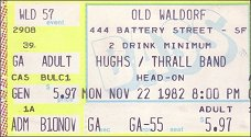 1982 - Hughes/Thrall Band - San Francisco