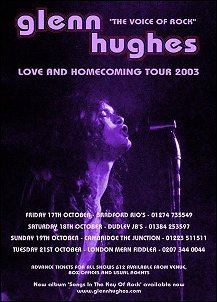 Love And Homecoming UK Tour - 2003